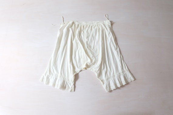 Antique White Cotton Bloomers