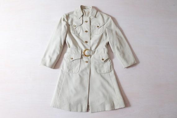 Vintage 60s Beige Trench Coat Jacket