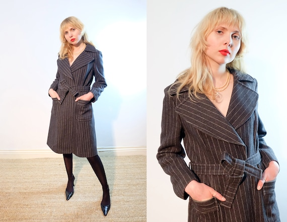Vintage 70s does 40s 'Betty Barclay' Grey Pinstrip