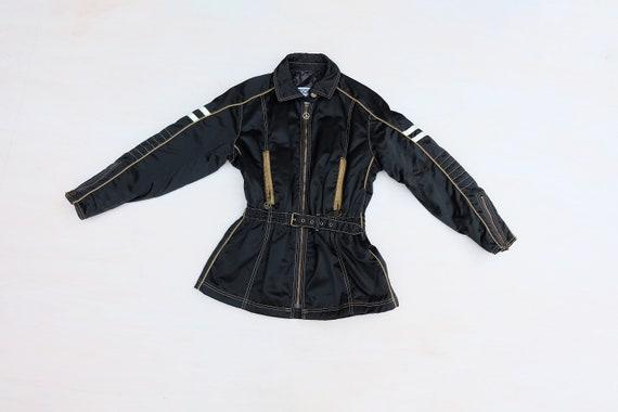 Vintage 00s 'Moschino' Black Biker Jacket