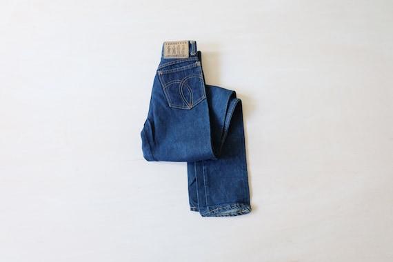 Vintage 80s Fiorucci Blue High Waisted Straight Cu