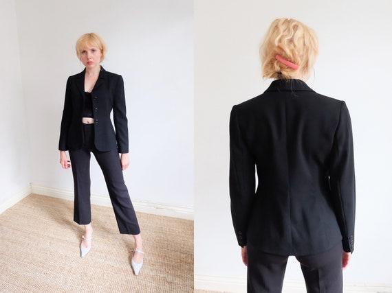 Vintage 90s 'Hobbs' Black Trouser Suit
