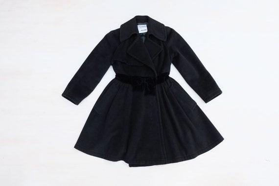 Vintage 00s 'Moschino' Black Wool Coat