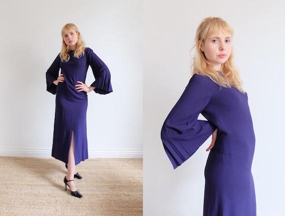 Vintage 60s Purple Angel Dress