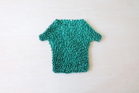 Vintage 90s Green Popcorn T-shirt Top