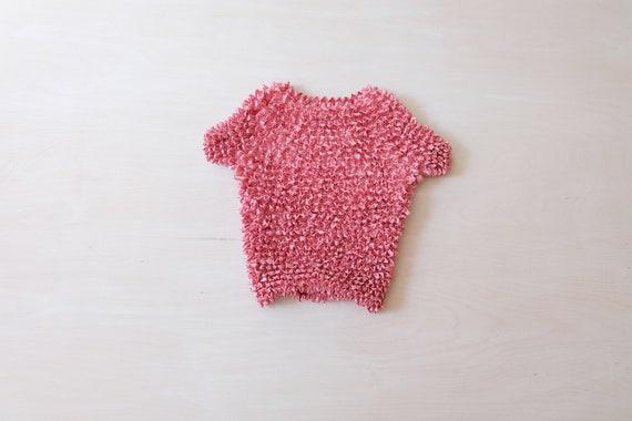 Vintage 90s Pink Popcorn T-shirt Top
