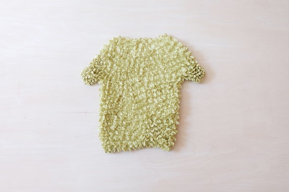 Vintage 90s Lime Green Popcorn T-shirt Top