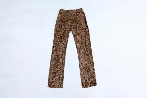 Vintage 80s 90s 'Moschino' Animal Print Trousers W