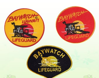 d64c6a27c2b2 Baywatch Movie Embroidered Iron on Sew On Patch Badge For Jeans Bags  T-shirts etc