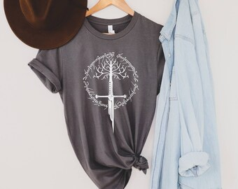 Sword & Tree T-Shirt | Lord of the Rings Shirt | LOTR Shirt | Bookish Gift | Book Lover Gift | Gift for Book Lovers | Bookish Shirt