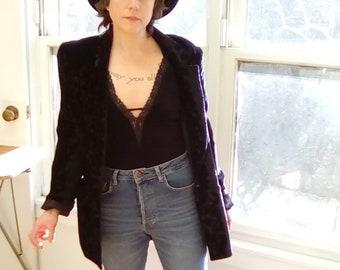 Vintage Dior black velvet women s blazer smoking jacket c207627b3c