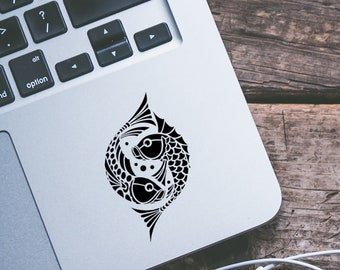 Koi Fish Vinyl Decal - Pisces Decal - Horoscope Decal