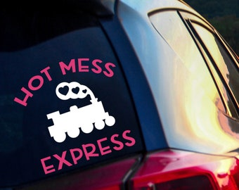 Hot Mess Express Vinyl Decal - Boss Lady Gift - Mom Car Decal