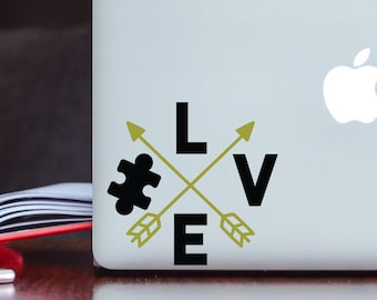 Love Autism Awareness Decal - Decal for Laptop - Decal for Tumbler