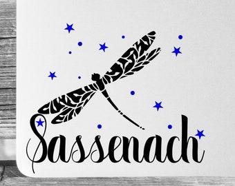 Sassenach Decal - Choose Your Font - Outlander Inspired - Outlander Gifts - Outlander Decal