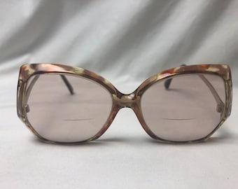 b3cfe22a1ead Vintage Used Big Frame Tura Prescription Eyeglasses 5 1 2 140 OA MOD TL-379  Tortoise Shell Brown