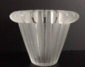 LALIQUE ROYAT Vase Crystal Art Deco Signed