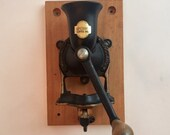 Vintage Spong Co. LTD Made in England Number 2 Iron Coffee Grinder - Rare Find