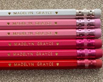 Custom Pencils, Personalized Pencils, Back to School, Gift, Wedding, Birthday, Teacher gift, Teacher Appreciation, Free Shipping, Hexagon