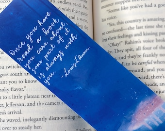 Book Quote Bookmarks - 3 designs - Gift for Bookworm, Book Lover Gift, Girl Quote Book Mark, Reader Gift - Laminated Bookmark