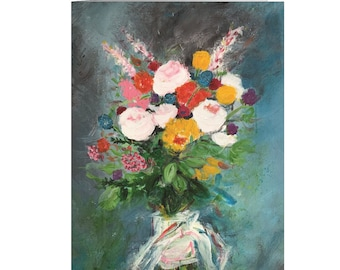 Abstract Bouquet Floral Greeting Cards | Blank Inside | Thinking of You Cards | Thank You Card