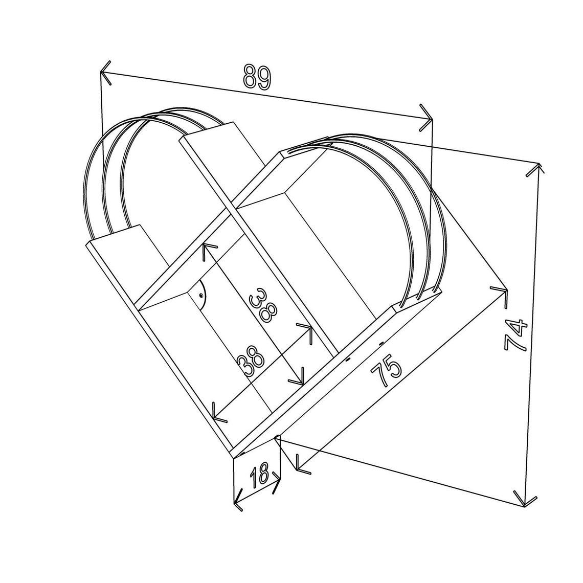 Case Wall Shelf Modern Design (White-Chrome), Wall Book Case