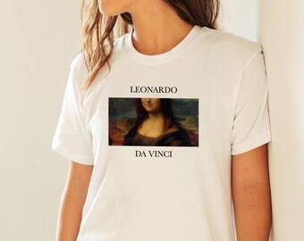 e1dcf6c95 Leonardo Da Vinci Mona Lisa T-Shirt Da Vinci Print Art T-Shirt Art Gift  Unisex Man Woman T-shirt Gift Her Gift Him Gift Painter Mona Lisa