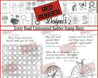Every Road Unmounted Rubber Stamp Sheet