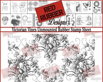 Victorian Vines Unmounted Rubber Stamp Sheet