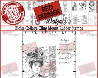Eloise Collage Cling Mount Rubber Stamps