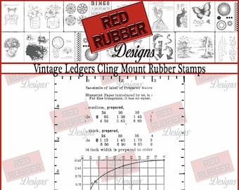 Vintage Ledgers Cling Mount Rubber Stamps
