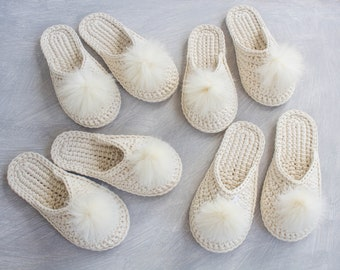 Bridesmaid slippers - Bride slippers - Flat wedding shoes