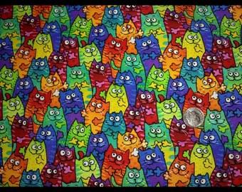 ea080730411 Rainbow Cats Medical Scrub Top