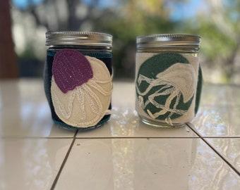Jelly Fish Jar Jacket Koozie Coffee/Tea Mug Snacks Container Get Organized