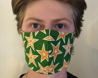 Face Mask Reusable, Washable, Reversible 100% Cotton Fabric, Double Layer, Cloth Masks, Per Health Guidelines, Protective, Adult/Child