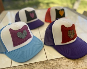 Oregon Love Trucker Hat Mesh Snap Back Unisex One Size Fits All
