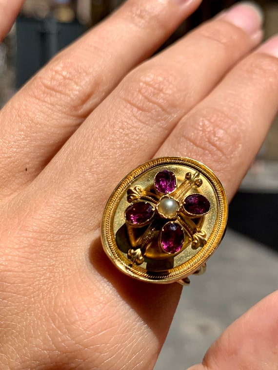 Victorian Gold Dome Ring