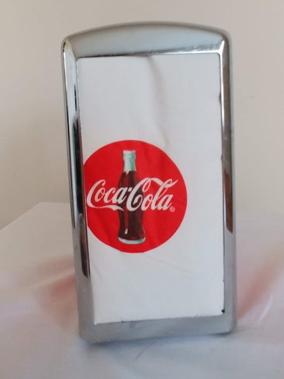 Coca Cola Metal Table Napkin Holder Dispenser Storage Container Red New