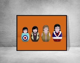 The Who, Russian dolls Illustration print/poster, British Rock music