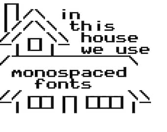 monospaced fonts in-this-house meme cross-stitch pattern