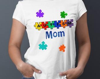 5470a2993c1 Autism Mom   Women's Autism Awareness TShirts   Women's Tops  …Aspergers  Mom Shirts