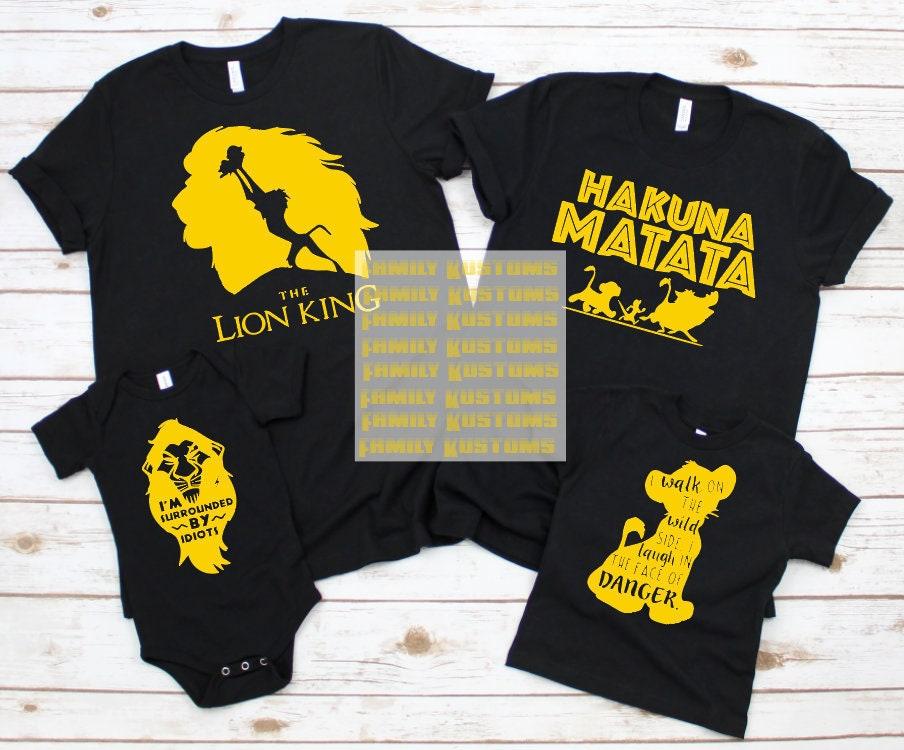 LION KING T Shirts | Hakuna Matata | Disney Shirts | GroupFamily Tshirts