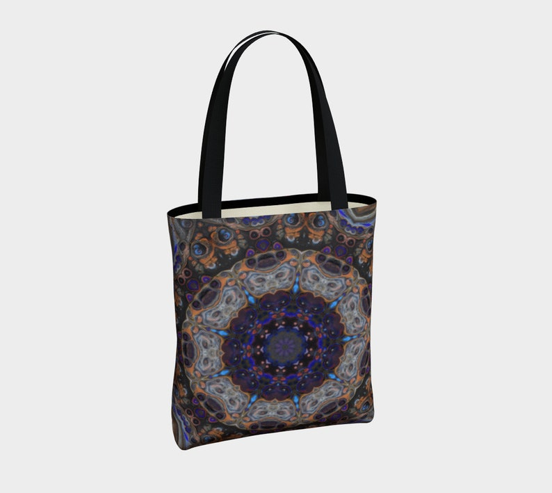 Blue Nebula design 2 Acrylic paint print Tote Bag,shopping,purse,handbag,mandala,school bag,magnetic closure,gift bag,mulit-use