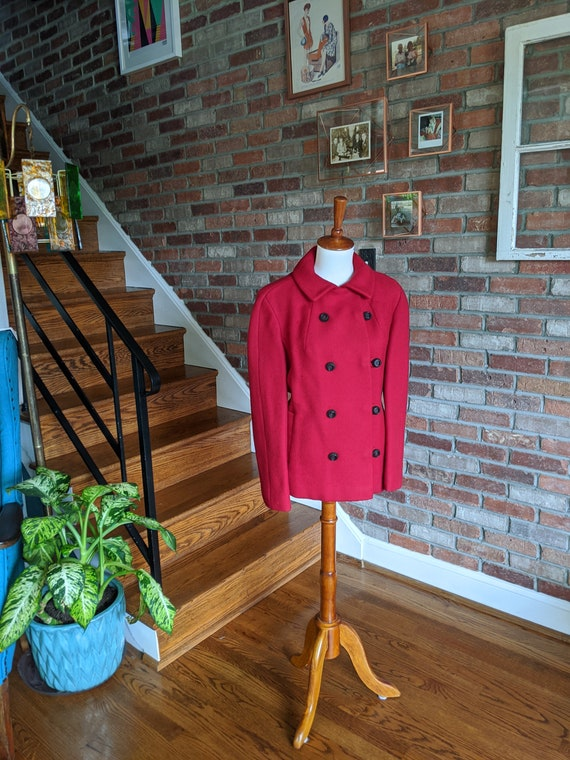Vintage 1950's/60's Bright Red Coat by Woodward an