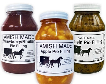 Amish Made Ready to Use Pie Filling (Two Jars)