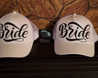 f60187277f90f Bride Glitter Pony Tail Cap