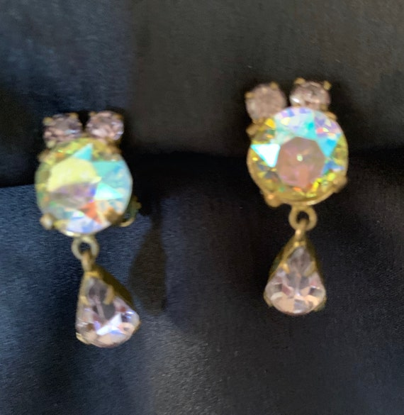 Rare /'Bobby Lujan/' Taos Pueblo MOP Channel Inlay Clip On Earrings-Hallmarked