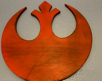 c458d38f5f3 Star Wars Rebel Alliance Inspired Wall Sign, Distressed Wood Cut Out
