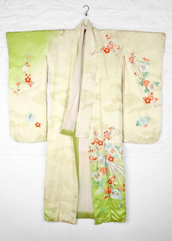 Embroidered  Spring Furisode Kimono