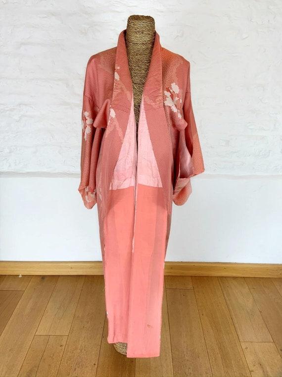 Patches of Pink Kimono